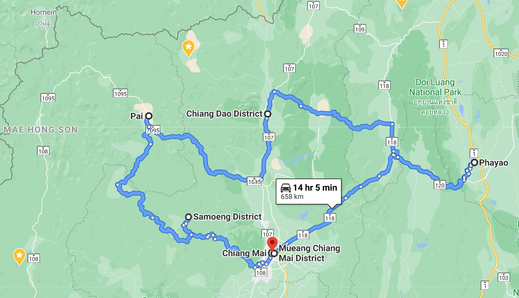 3 days tour map
