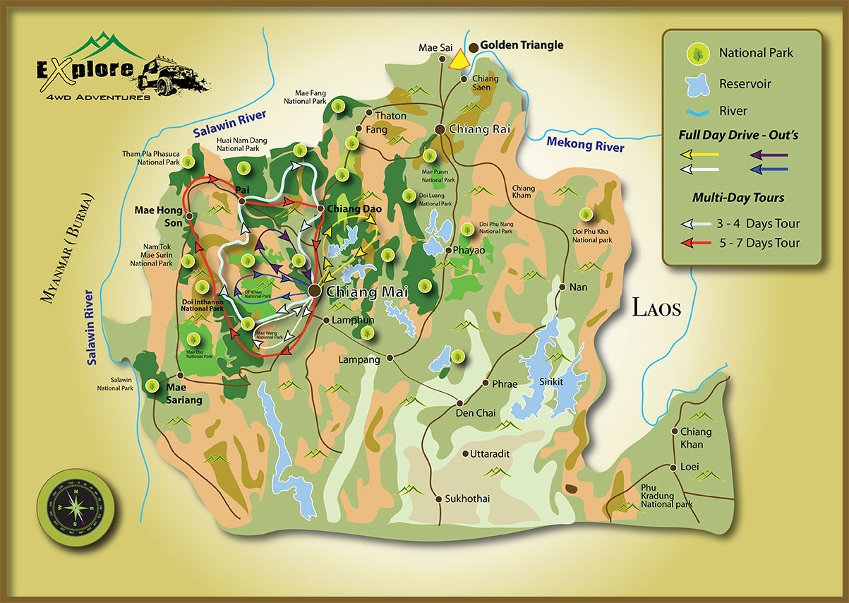 chiang mai offroad 4x4 loop tours